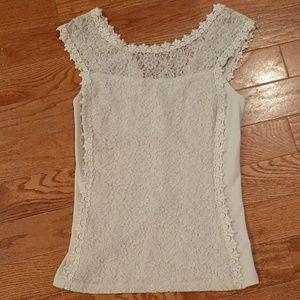 3/$19.  Express biege racerback lace camisole top